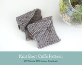 Knit Boot Cuff Pattern - Instant Download Knit Pattern - PDF Pattern Womens Boot Cuffs
