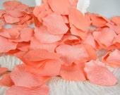 200 Coral Bulk Petals, Artifical Rose Petals, Coral Wedding Decoation Bridal Shower Decoration, Flower Girl Petals Table Scatter