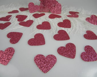 Princess Party Pink Glitter Confetti Hearts | First Birthday Girl Party Decorations | Bachelorette Party Table Scatter | Baby Shower Decor