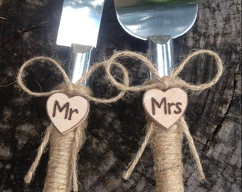 Woodland Country Rustic Chic Wedding Cake Server And Knife Set