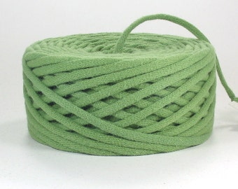 Apple Green Recycled T Shirt Yarn 52 Yards