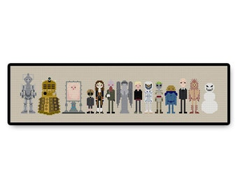 Doctor Who Villains and Monsters - Cross Stitch PDF Pattern