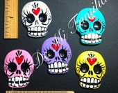 Sugar Skull CRAFT SUPPLY Made to Order Set of 5 Hand designed handmade sugar skull cab