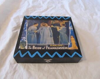 The Bride of Frankenstein Classic Horror Jewelry Stash Keepsake Box