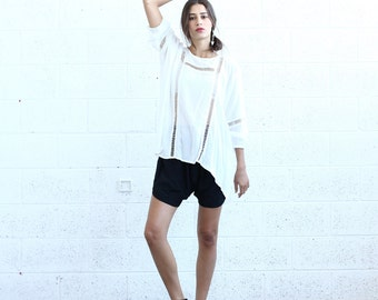 Breeze Tunic-White lace tunic.