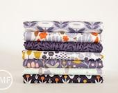 Morning Song in Evening Dusk Half Yard Bundle, 7 Pieces, Elizabeth Olwen, Cloud9 Fabrics, 100% GOTS-Certified Organic Cotton Fabric