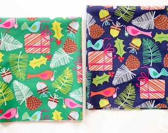 Treelicious Mistletoe Fat Quarter Bundle, 2 Pieces, Maude Asbury, Blend Fabrics, 100% Cotton Fabric, 101.112