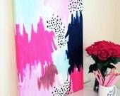 Dotty Burst Canvas Art (18x24)
