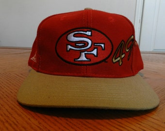 vintage San Francisco 49ers snapback Hat 80s 90s Script hip hop hipster cap Niners NFL wool Apex