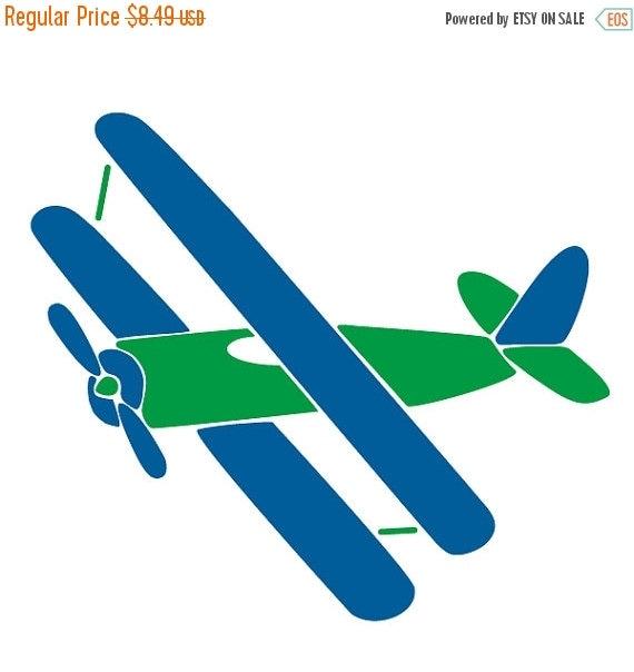 Sur vente avion wall pochoir pour peinture par mywallstencils for Pochoir pour chambre bebe