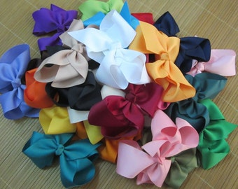 "10% off Set of 20 pcs 6 inch big hair bows, baby bows, bows for girl, bows for baby, big bows, large bows, 6"" bows, 25 colors to choose"