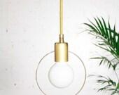 Halo - Modern minimalist pendant lamp - Unfinished solid brass