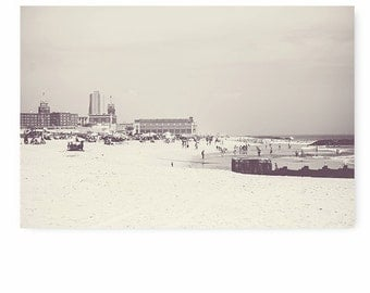 Beach Decor, Black and White art , Beach art print, Ocean print, Asbury Park Print, beach decor, beach house, jersey shore print