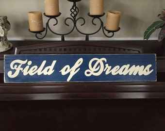 Field Of Dreams Baseball Room Decor Ballgame Wooden Sign Plaque You Pick Color Hand Painted