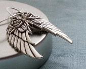 Silver Wings Earrings. Silver Earrings. Small Wings Earrings. Wing Jewelry