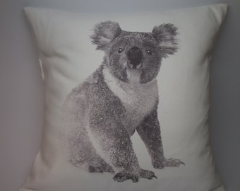 Koala Bear Pillow, rustic farmhouse, industrial chic,  INSERT INCLUDED