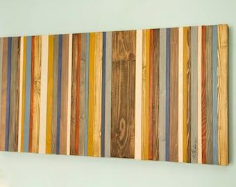 Reclaimed Wood Wall Art - Rustic Wood Decor, Modern wood sculpture, Customized gift