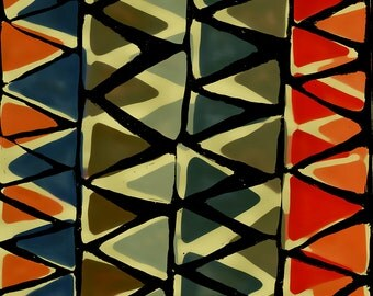 Muted Zig Zags Limited Edition Print