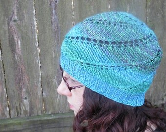 Concavus (no gauge) Hat, PDF Knitting Pattern