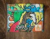 Reusable Small Snack Bag Snap Down - The Smurfs - Vintage