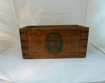 Vintage Wood Crate Swifts Premium Corned Beef