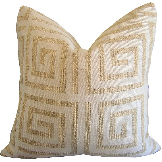 Greek Key Pillow Greek Key Sham Geometric Pillow Couch