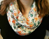 BACKORDERED Pokemon Starters Infinity Scarf - bulbasaur squirtle charmander pattern geeky polyester outerwear
