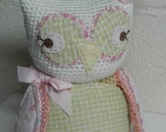 Crocheted Stuffed Owl/Baby Toy/Woodland Nursery