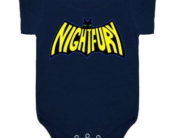 YOUTH ONESIE TODDLER -- Na Na Na Na Nightfury! Toothless Batman Logo Nightfury - How To Train Your Dragon 2