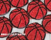 "Basketball 3"" shabby chiffon rose trim applique embellishment wholesale"