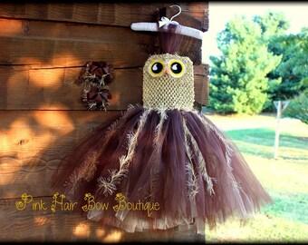Toddler Halloween Owl Costume, Infant Halloween Costume, 6 months 9 months 12 months 18 months 24 months 2T 3T Owl Tutu Costume