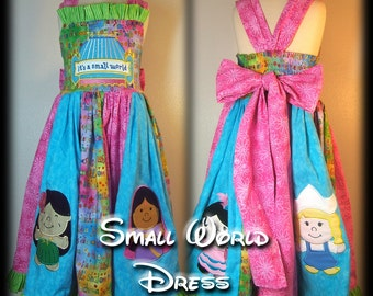Boutique Small World Applique Twirl Dress
