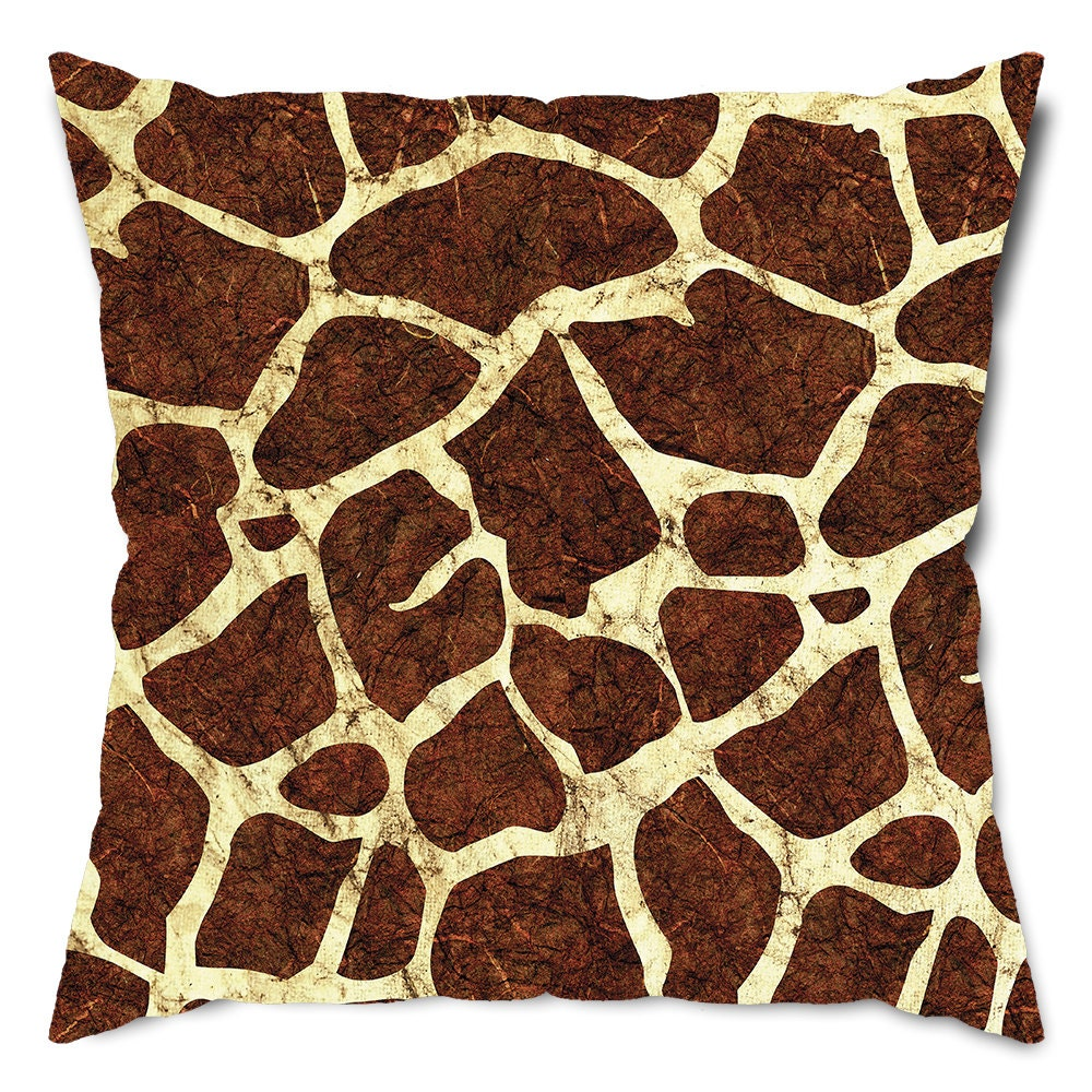 Giraffe Decorative Pillow : Giraffe Print Throw Pillow