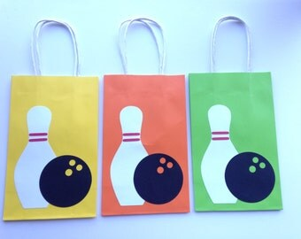 Bowling Party - Paper Goodie Bags - Set of 10