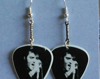 Elvis Dunlop Guitar Pick Earrings