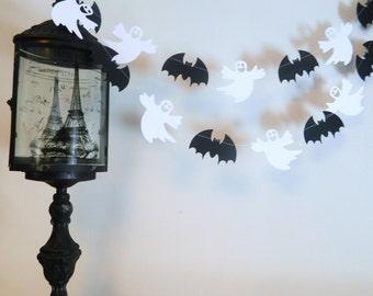 Halloween Decorations - Halloween Garland - Bats and Ghosts Decoration - Spooky decor- Halloween Party Decor- Classroom Decor-