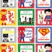 PRINTABLE, SET OF 12, Superhero Lunch Box Notes