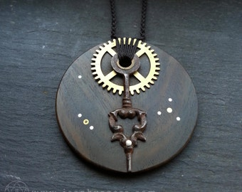 Steampunk Pendant - handcrafted jewellery