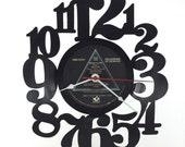 Handmade Vinyl Record Wall Clock Hanging Clock (artist is Pink Floyd)