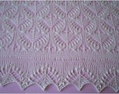 Hand knitted Christening shawl Baptism shawl Baby Shower gift Soft heirloom lace shawl Baby Blanket Estonian shawl with nupps MADE TO ORDER