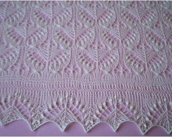 Knit Christening shawl, Baptism shawl, Baby Shower gift, heirloom lace shawl, newborn photo prop, MADE TO ORDER
