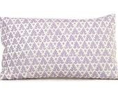 Quadrille Soft Lavendar Volpi, Pillow Cover 18x18, 20x20, 22x22, 24x24 or Lumbar pillow, Accent Pillow, Throw Pillow, Toss Pillow Cushion