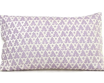 Quadrille Soft Lavendar Volpi, Pillow Cover 18x18, 20x20, 22x22, 24x24 or Lumbar pillow, Accent Pillow, Throw Pillow, Toss Pillow Cushion