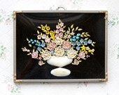Sea Shells Art Bouquet - Antique Domed Glass Frame Ca early 1900s