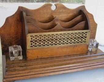 Antique Oak Desk Set