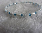 FREE SHIPPING - Simplicity Beaded Memory Wire Coil Bracelet