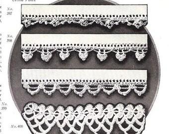 Vintage 1925 Crochet lace pattern PDF Instant Download