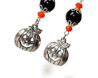 Happy pumpkin dangle earrings (J24)
