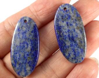 1pair-Lapis Lazuli gemstone Earring beads,10g, 30mmX14mm