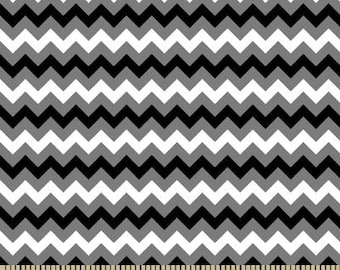 06334 -  Springs Creative Products Quilting Basics Tonal Chevron in Black color - 1 yard